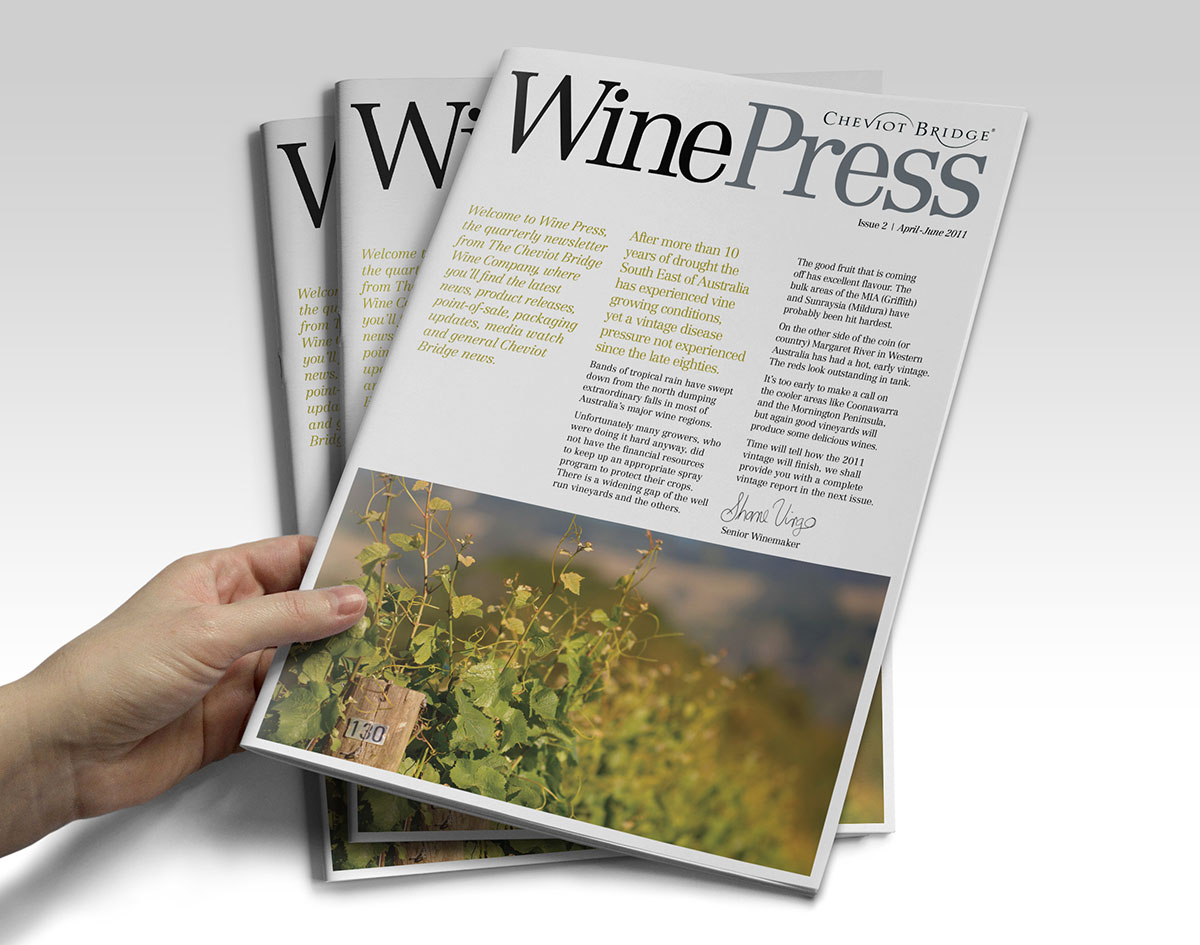Wine industry magazine design