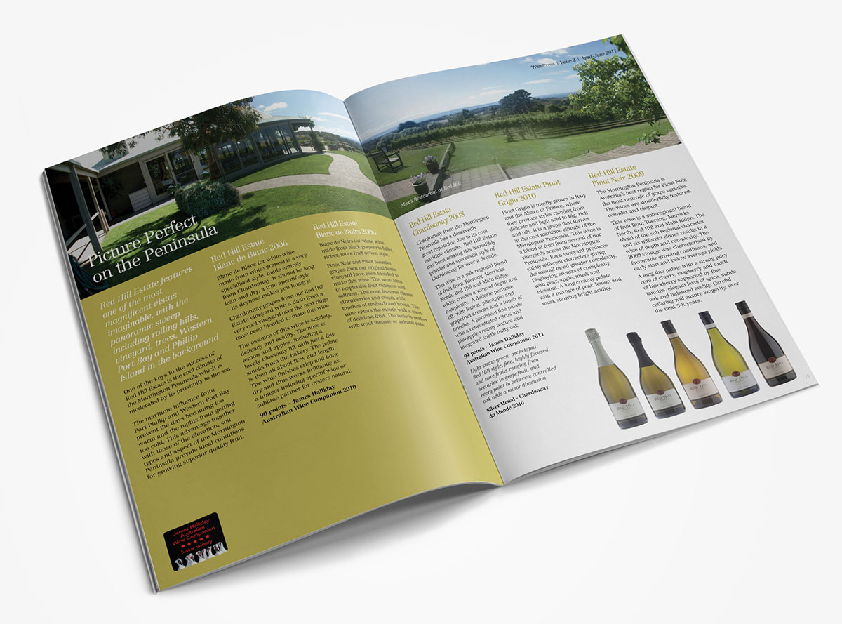 Wine Press Magazine Design and Layout